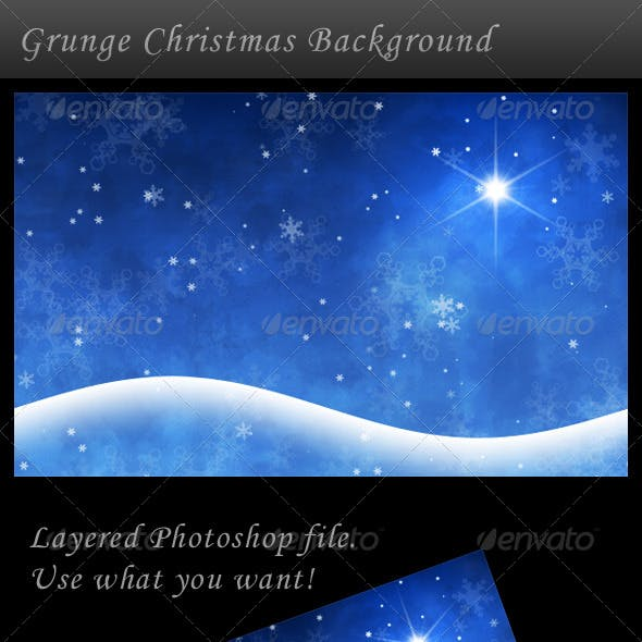 Grunge Winter/Christmas Background