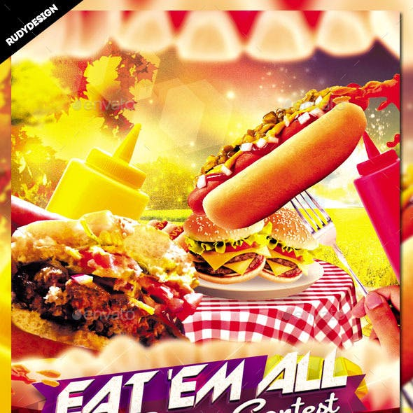 Eating Contest Flyer Template