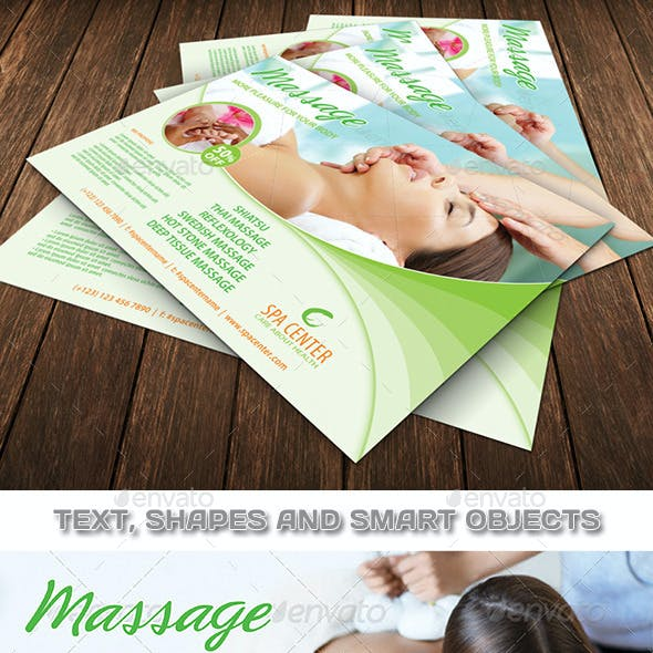 Massage and Spa Center Flyer Template 79