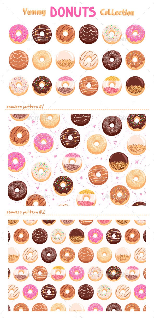 Donuts Collection - Food Objects