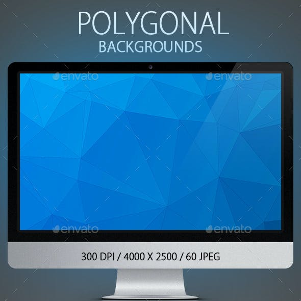 60 Polygonal Backgrounds