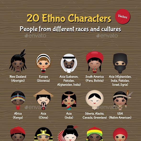 20 Ethno Characters