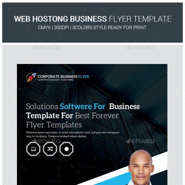 Premium Web Hosting Flyers