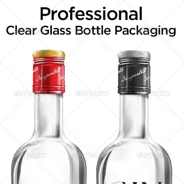 Clear Glass Bottle Packaging