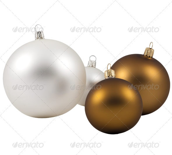 Christmas Baubles - Home & Office Isolated Objects
