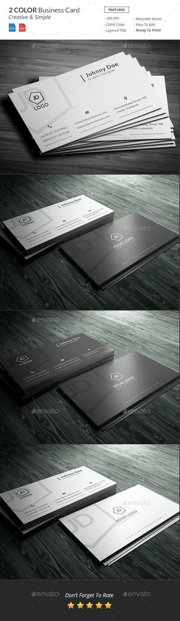 Black & White Business Card - Creative Business Cards