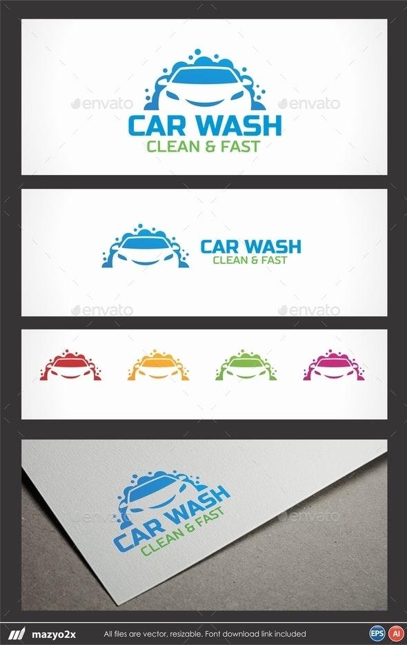 Car Wash Logo - Objects Logo Templates