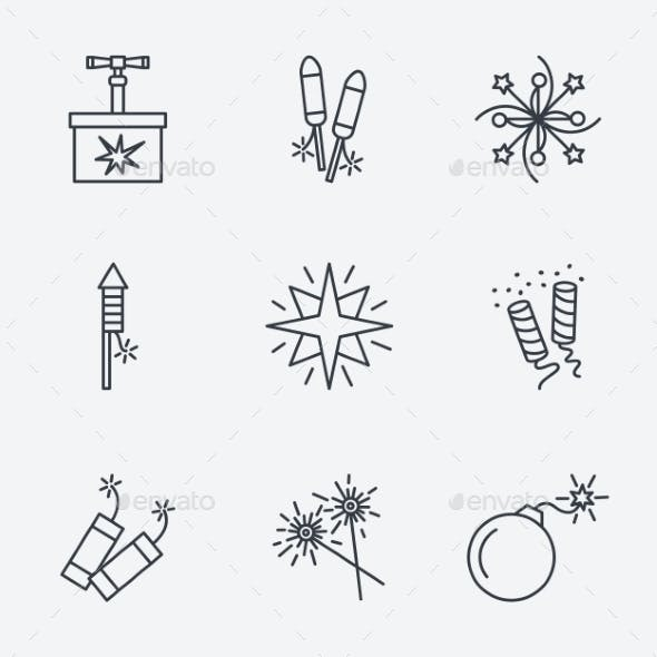 Pyrotechnic Icons Set