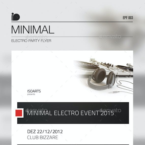 Electro Party Flyer • Minimal