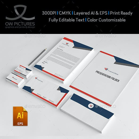 Corporate Stationery Pack Design Template Vol.11
