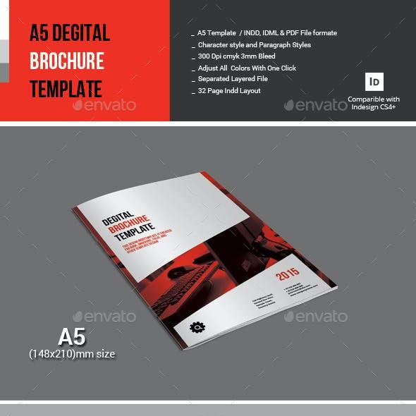 A5 Degital Brochure Template