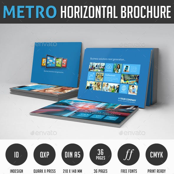 Metro horizontal Brochure