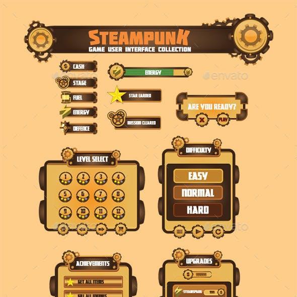 Steam Punk Game User Interface Set