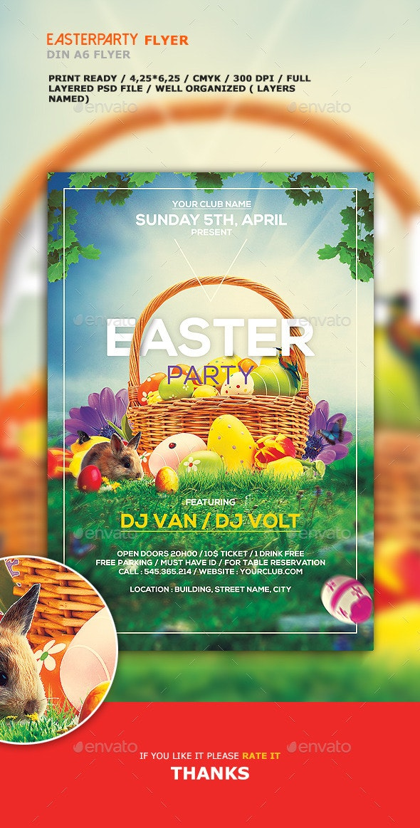 Easter party flyer - Holidays Events