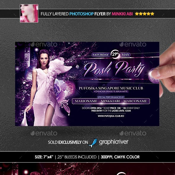 Posh Party Poster/Flyer