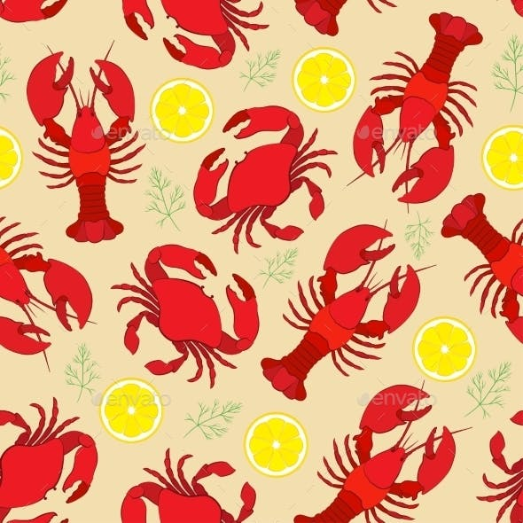 Lobster and Crab Pattern