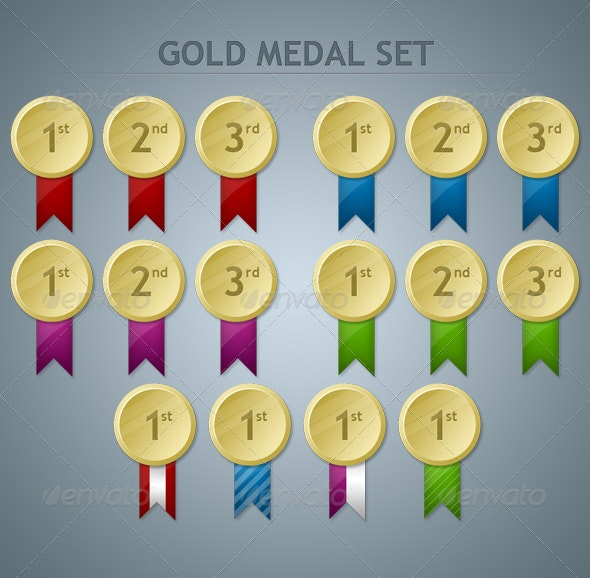 Gold Medal Set - Miscellaneous Web Elements