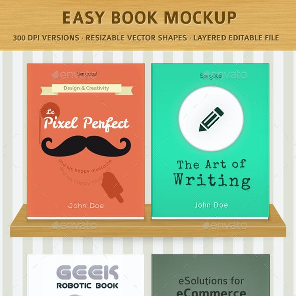 Easy Book Mock-Ups