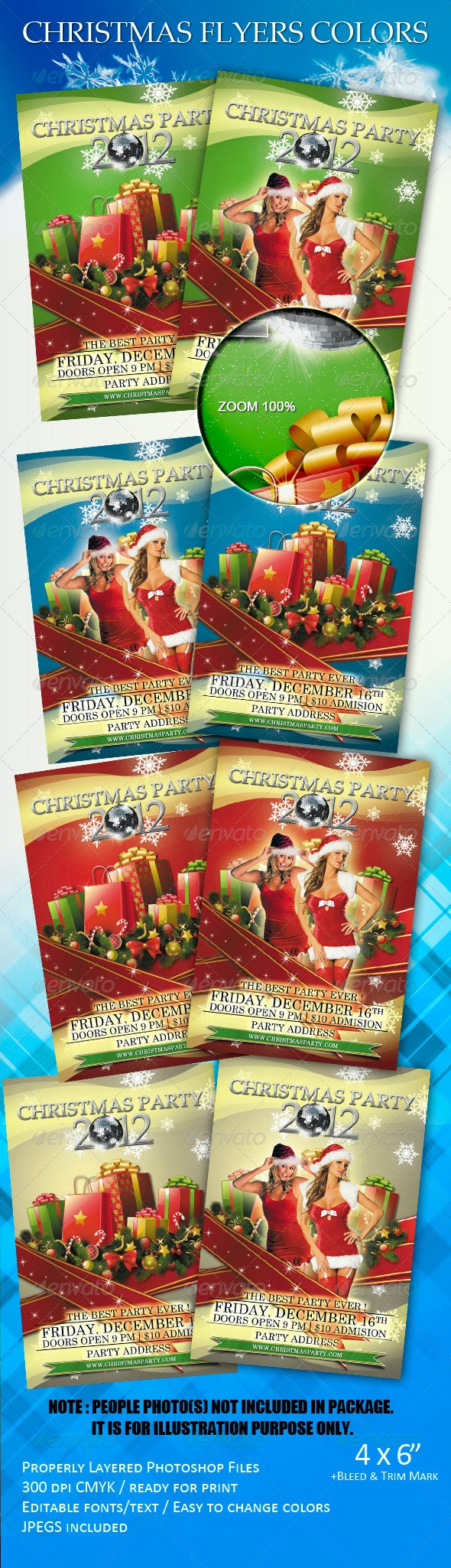 Christmas Flyers Colors - Clubs & Parties Events