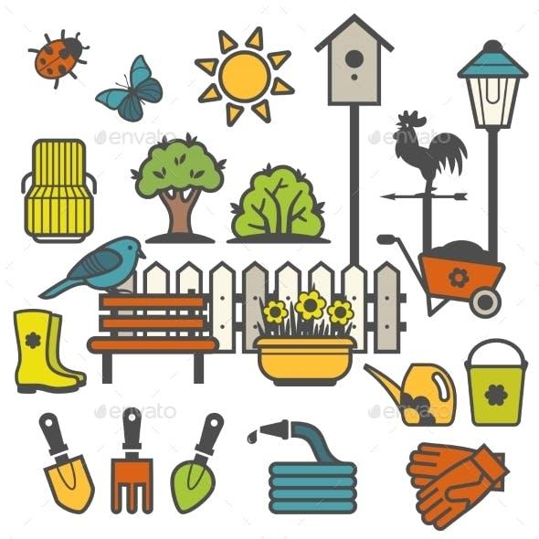 Rural Gardening Concept