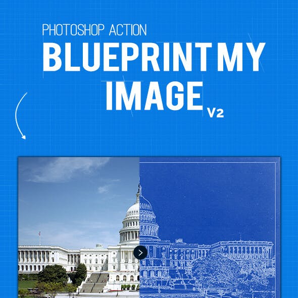 Blueprint My Image Photoshop Action