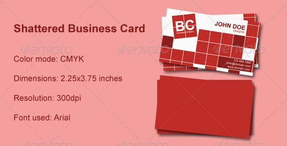 Shattered Business Card - Creative Business Cards