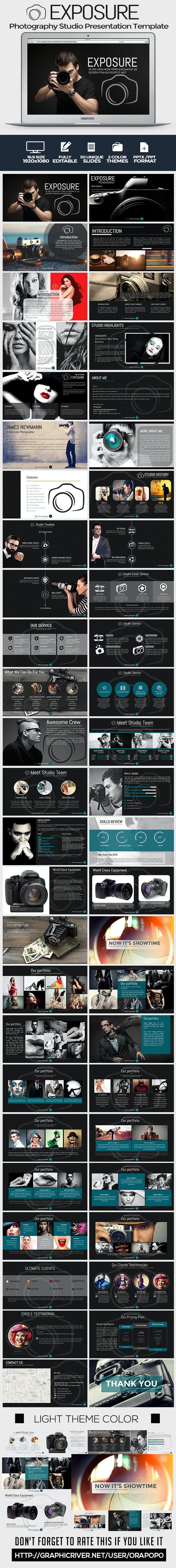 Exposure Photography Studio Presentation Template - Creative PowerPoint Templates