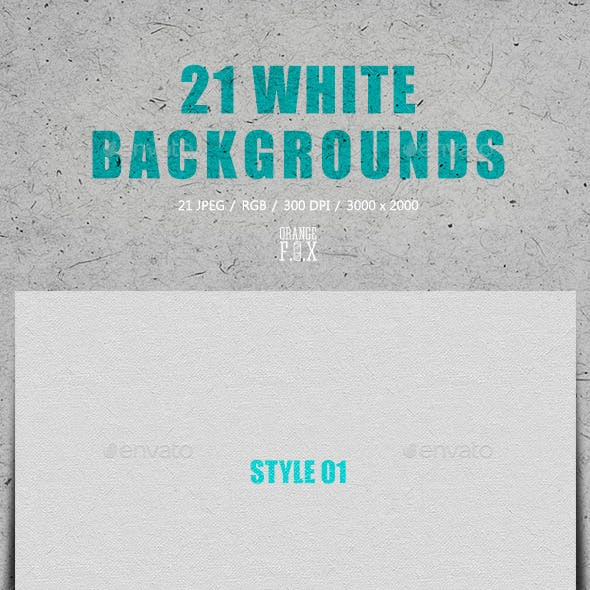 21 White Backgrounds