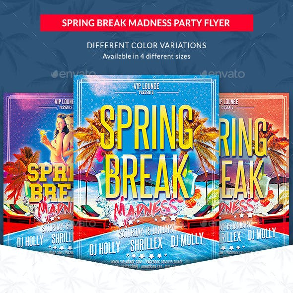 Spring Break Madness Party Flyer