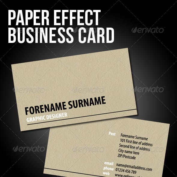 Japanese Paper effect Business Card
