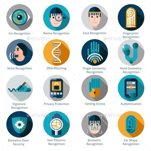 Biometric Authentication Icons - Technology Icons