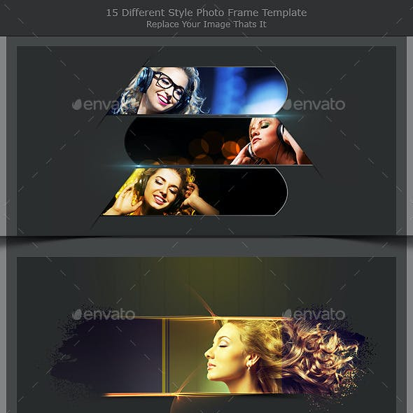 15 Different Styles Photo Frame Template