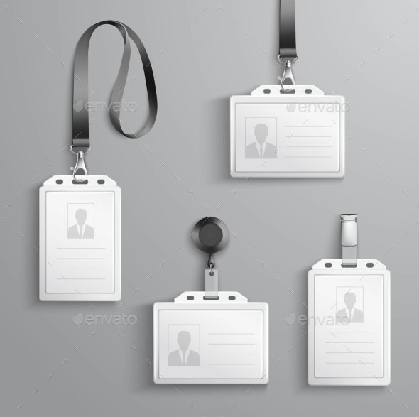 Identification Cards Set - Objects Vectors