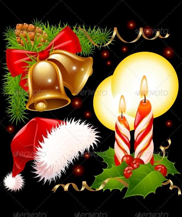 Christmas decoration set 03. - Christmas Seasons/Holidays