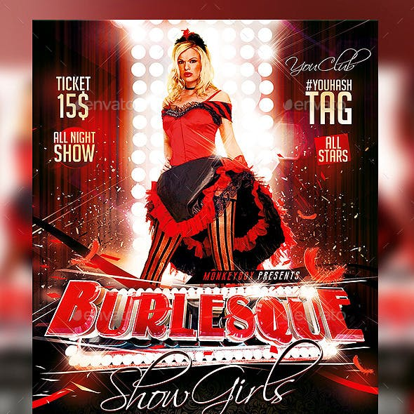 Flyer Burlesque Show Konnekt