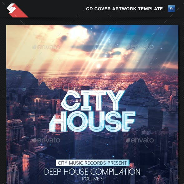 City House - CD Cover Artwork Template