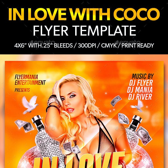 In Love With Coco Flyer Template