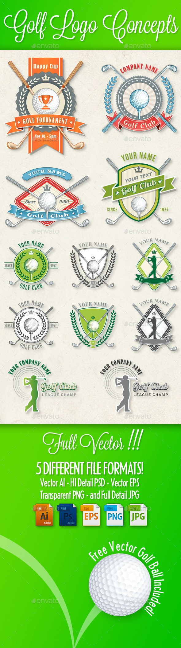 Golf Logos and Concepts - Sports/Activity Conceptual