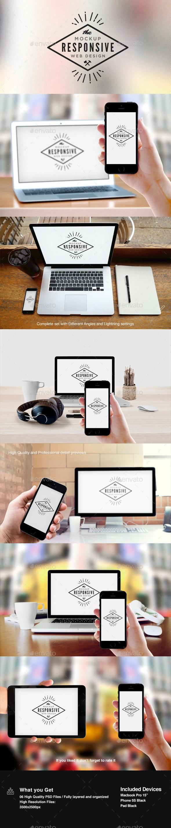 Responsive Design Screen Mock-Up - Multiple Displays