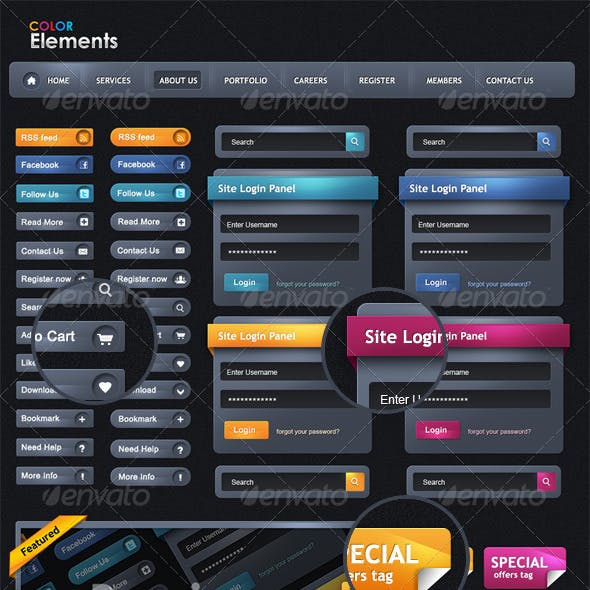 Color Web Elements