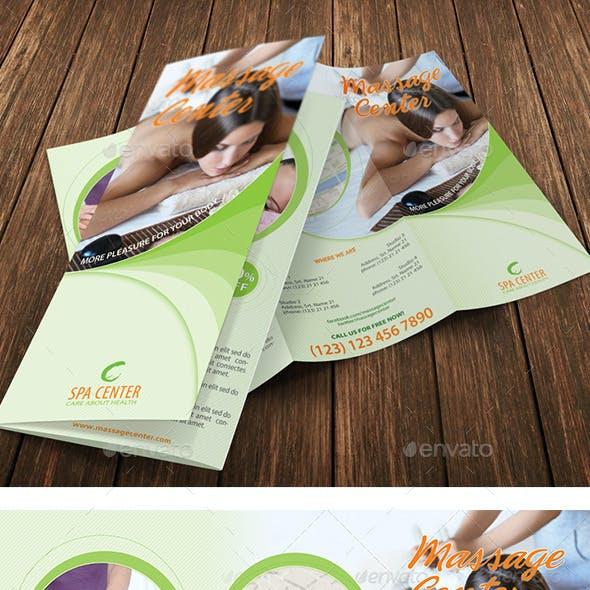 Massage and Spa Center 3-Fold Brochure 25