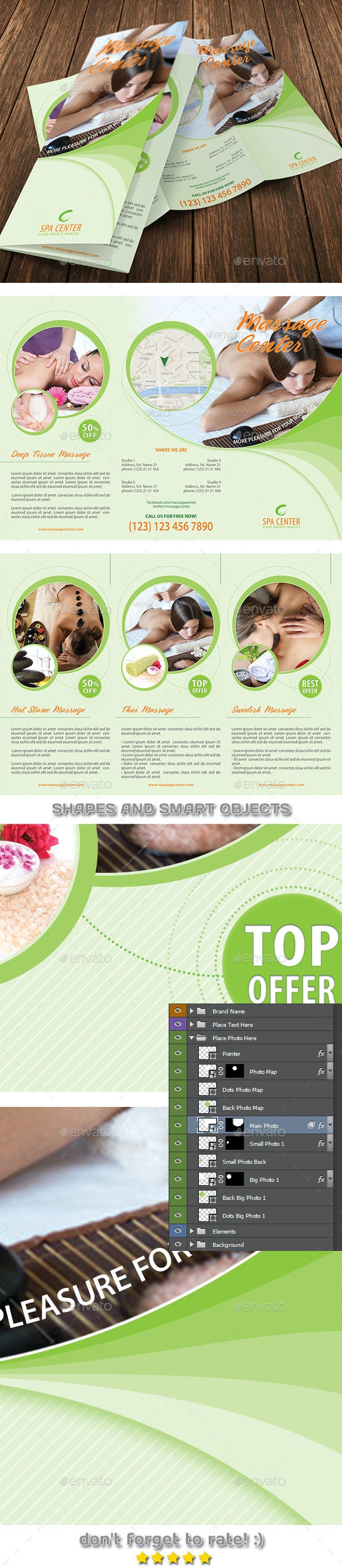 Massage and Spa Center 3-Fold Brochure 25 - Brochures Print Templates
