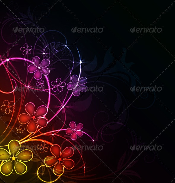 Glowing floral background - Backgrounds Decorative