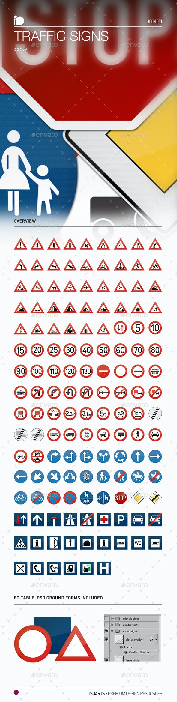 Icons • Traffic Signs - Man-made objects Objects