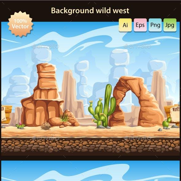 Wild West - tillable horizontal background