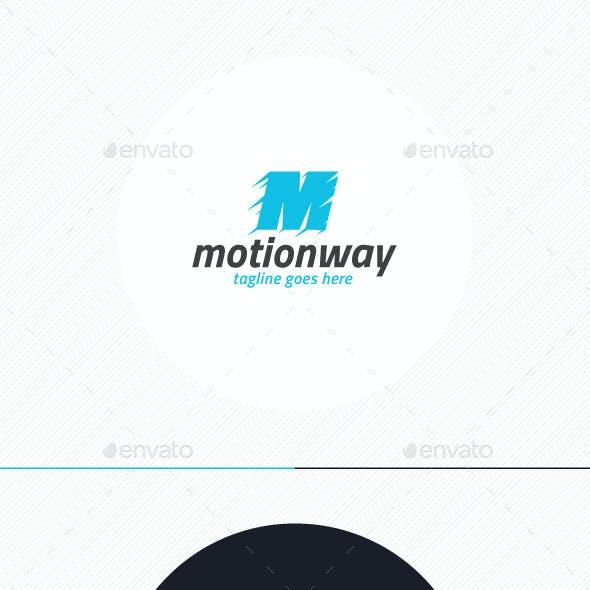 Motion Way Logo • Letter M