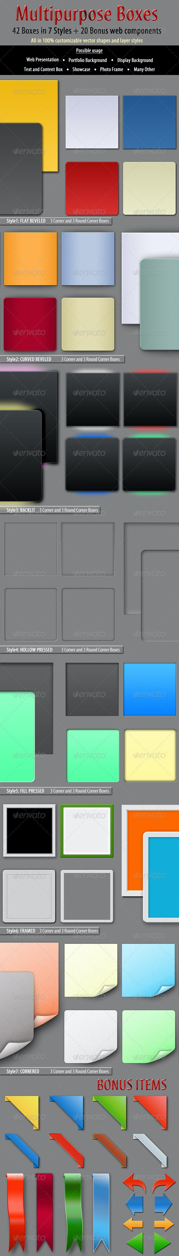 Multipurpose Boxes - Miscellaneous Web Elements