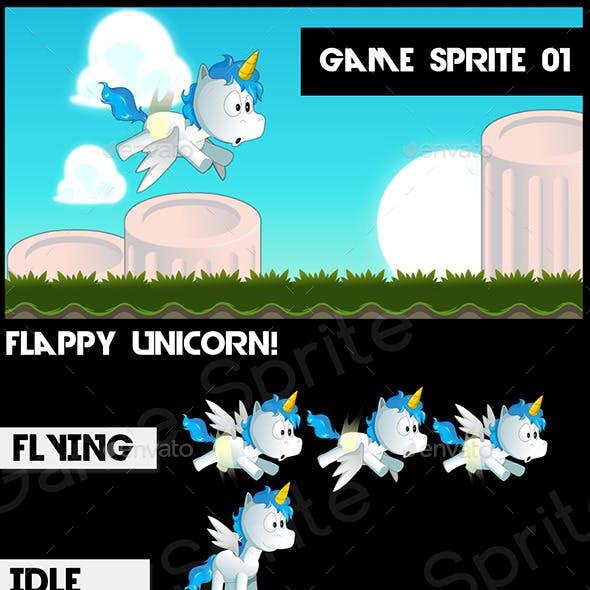 Flappy Unicorn - Game Asset 2D Game Sprite