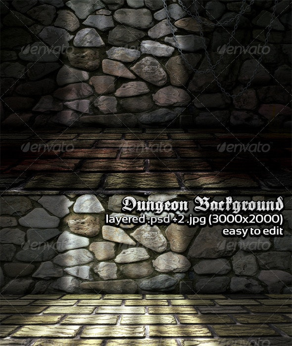 Dungeon Background - 3D Backgrounds