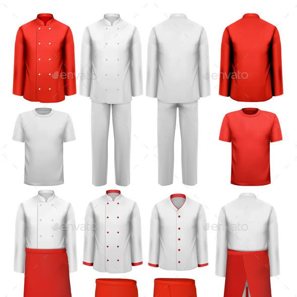 Set of Cook Clothing